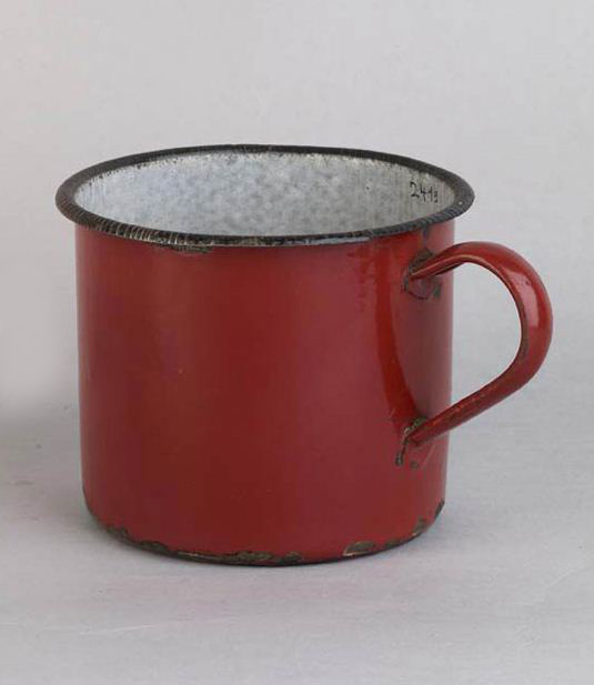 Coffe Mug made in the schindler's enamelware factory