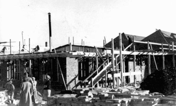 Construction of Oskar Schindler's armaments factory in Bruennlitz. Czechoslovakia, October 1944
