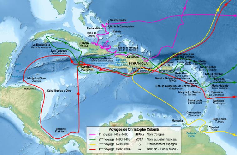 800px-Christopher_Columbus_voyages_map-fr.svg