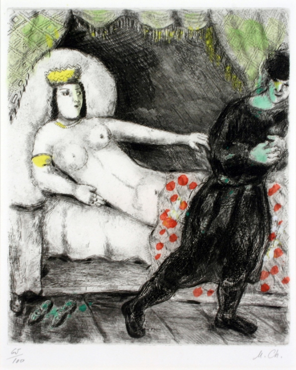 Marc Chagall, La femme de Potiphar, Haggerty Museum, 1957