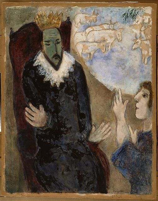 Joseph explique ses rêves à Pharaon, Marc Chagall, 1931
