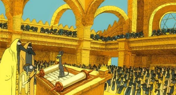 Le Chat du Rabbin intervient en plein office dans la synagogue de la Jérusalem d'Afrique