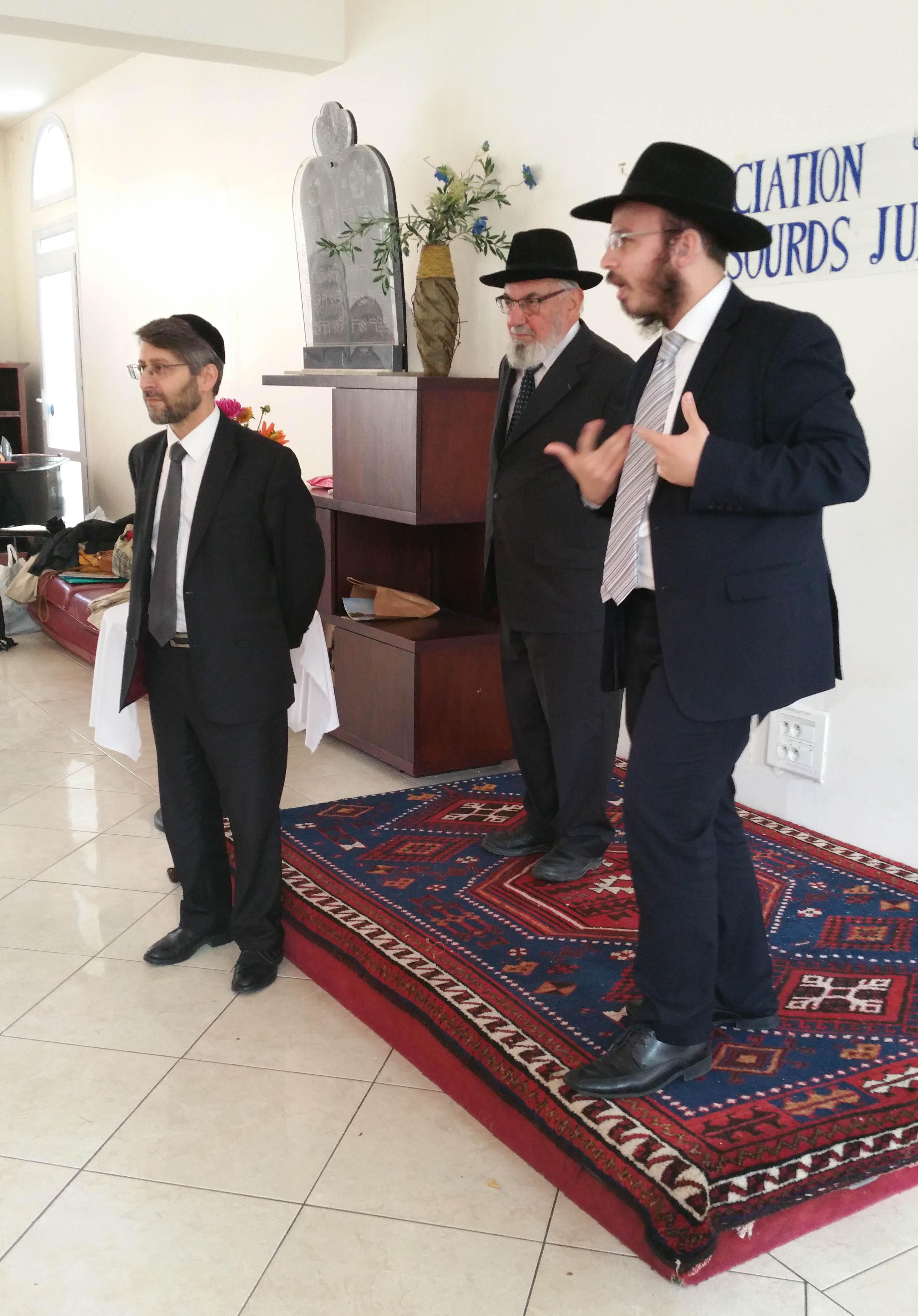 ... rabbin Haïm Korsia à la rencontre des sourds juifs   Didier Long