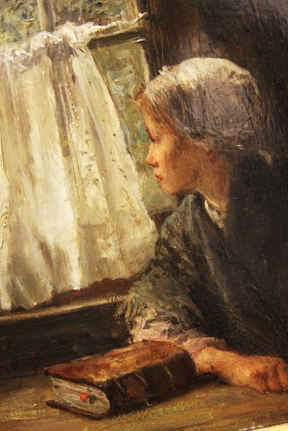 Femme lisant la Bible - Jospeh Israël